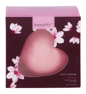 Beautify badebombe Heart Peach