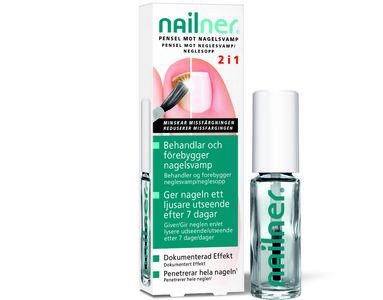 Nailner pensel 2 i1 mot neglesopp 5ml