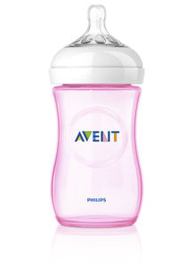 Philips Avent Natural tåteflaske 260ml Rosa