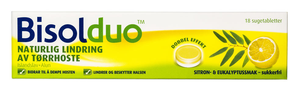 4b506df91389 Bisolduo sugetabletter for voksne og barn over 6 år - sitron eukalyptus