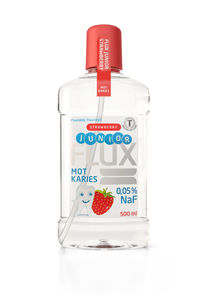 Flux junior fluorskyll 0,05% NaF jordbær 500 ml