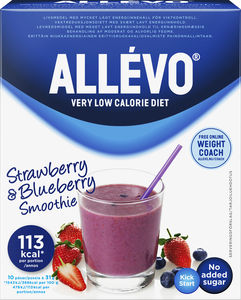 Allévo Kick Start Smoothie Strawberry/Blueberry 10x31 g