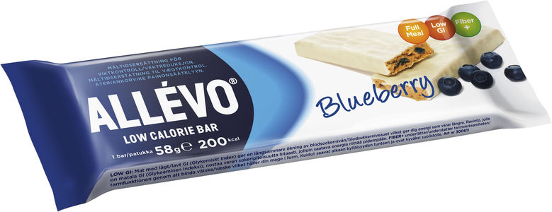 Allevo Low Calorie Bar - Blueberry 58 g