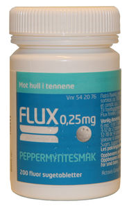 Flux Sugetab med peppermyntesmak 0,25 mg