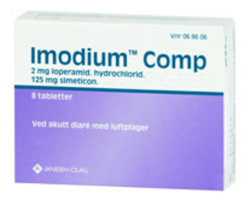 Imodium Comp Tab 2 mg/125 mg