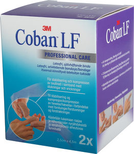 Coban Professional Care. Lateksfri 2,5cmx4,5m - til fingre og tær