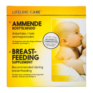 Lifeline Care kosttilskudd for ammende 4x30 tabletter