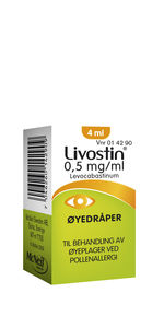 Livostin Øyedr 0,5 mg/ml