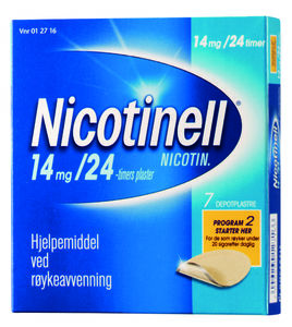 Nicotinell Depotplaster 14 mg/24 timer