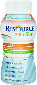 Resource 2.0 fiber vanilje  4 x 200 ml