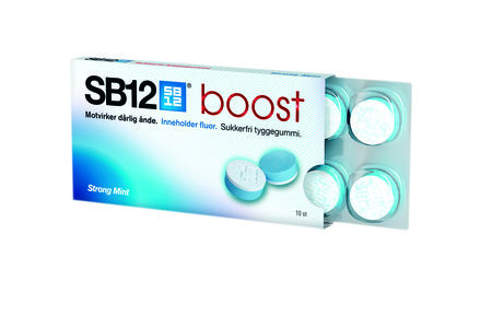 SB12 Boost Tyggegummi Strong mint 10 stk