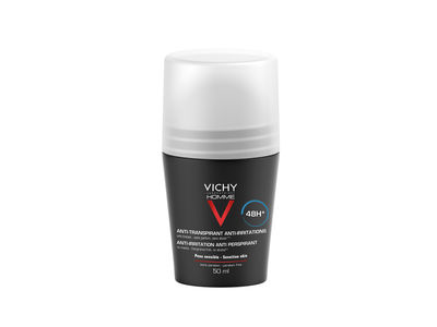 Vichy Homme mild antiperspirant deodorant roll-on 48h uten parfyme, 50ml