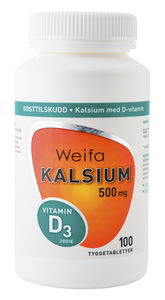 Complete Kalsium 500mg m/D-vitamin tyggetabletter 100 stk