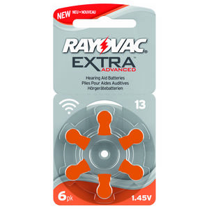 Rayovac Extra Advanced Batteri 13 - 6 stk