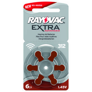 Rayovac Extra  Advanced  Batteri  312 - 6 stk