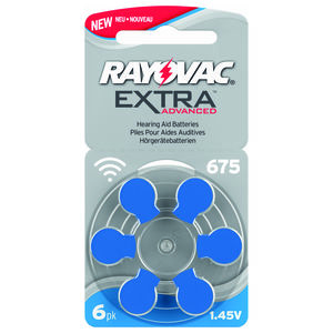 Rayovac Extra Advanced  Batteri 675 - 6 stk