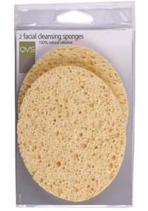 QVS 2 Natual cellulose facial cleansing sponges