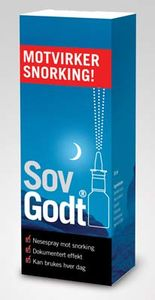 Sov Godt Anti-Snork Nesespray 30 ml