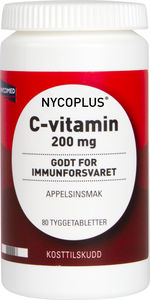 Nycoplus C-vitamin Tyggetab 200 mg