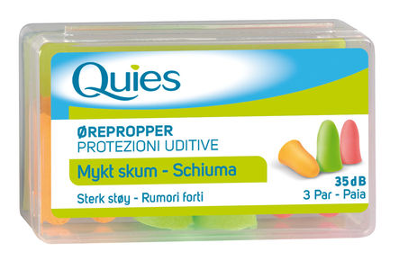 Quies ørepropper mykt skum 6 stk
