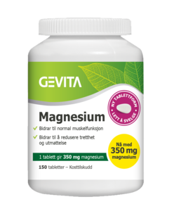 Gevita Magnesium 350 mg,  150 tabletter