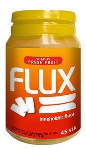 Flux tyggegummi Fresh Fruit fluor 45 stk