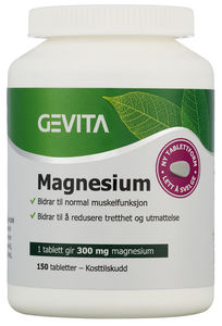 Gevita magnesium 300 mg, 150 tabletter