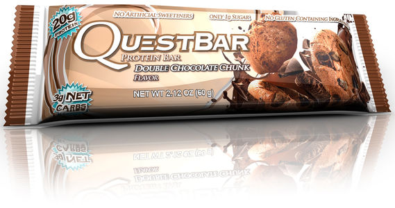 Questbar Double Chocolate Chunk proteinbar 60g