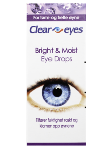 Cleareyes Bright & Moist øyedråper 15 ml