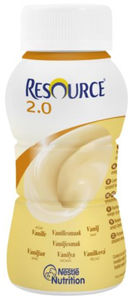 Resource 2,0 vaniljesmak 4x200 ml