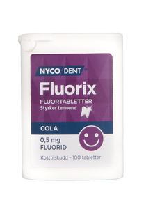 Nycodent fluorix Sugetab med colasmak 0,5 mg