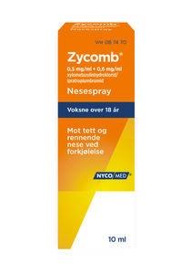 Zycomb Nesespray 0,5 mg/ml/0,6 mg/ml