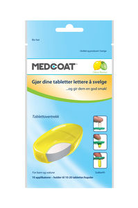 MedCoat tablettovertrekk  sitrus - 10 pk