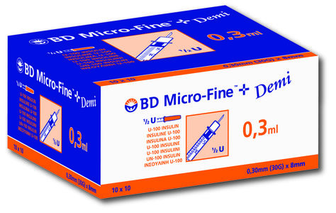 BD MICROFINE SPR 0,3ML  8MM