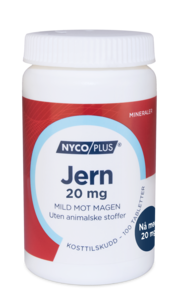 Nycoplus jern 20mg 100 tabletter
