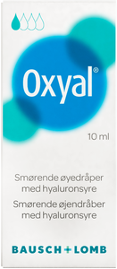 Oxyal Øyedråper for tørre trette og irriterte øyne 10 ml
