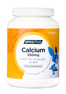 Nycoplus calcium Tyggetab 250 mg