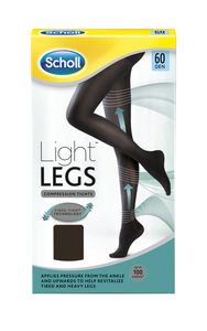 Scholl Light Legs 60 denier sort S - 1 par