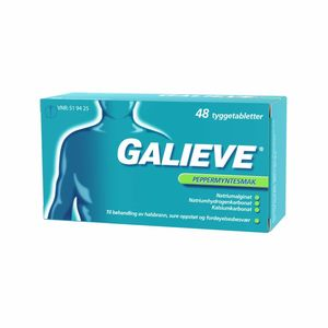 Galieve Tyggetab 250 mg/133,5 mg/80 mg