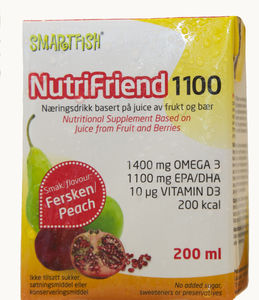 NutriFriend 1100 Fersken, 200ml