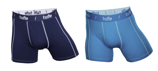 Tufte herreboxer hawaii / blue XXL