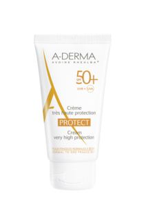 A-Derma Protect ansikt normal/tørr hud SPF 50+, 40 ml