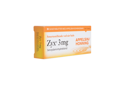 Zyx Sugetab 3 mg appelsin /honning