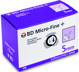 BD MICROFINE+ PENNEKAN 5MM 31G