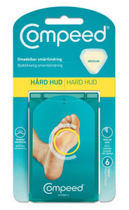 Compeed Hard Hud Medium 6 stk