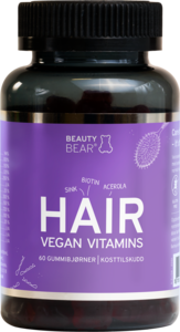 Beauty Bear Hair Vegan Vitamins 60 tyggetabletter