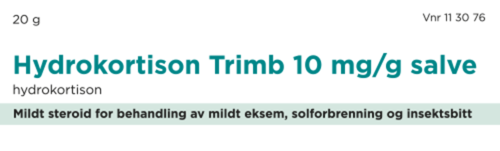 Hydrokortison Trimb Salve 10 mg/g