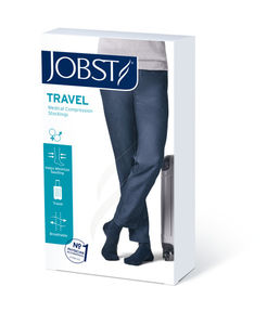 JOBST Travel Socks Kompresjonsstrømpe Klasse 1 Kne Sort  37/38