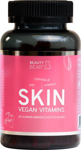 Beauty Bear Skin Vegan Vitamins 60 tyggetabletter