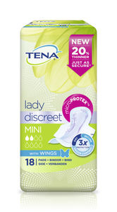 Tena Lady Discreet Mini Wings 18 stk
